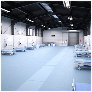 hospital ward temporary 3D