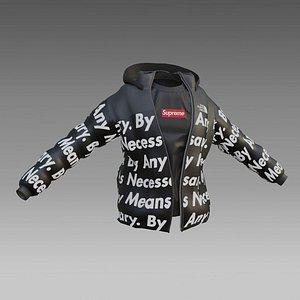 3D goku drip - jacket - low poly 3D model
