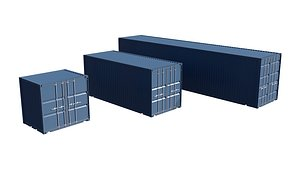 shipping containers 3D