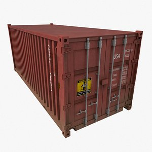 3D model pbr container shipping