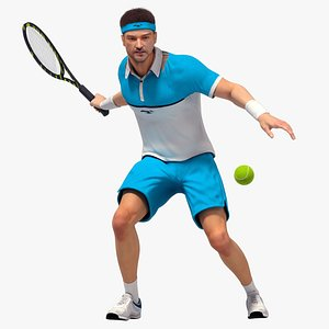 3D model Male Tennis Player Animated HQ