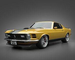 1970 Ford Mustang Mach1 3D model