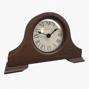 3D mantel tabletop clock model