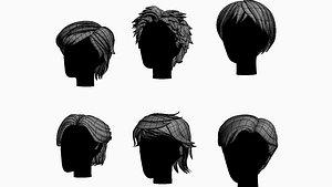 stylized hair factory 3D model