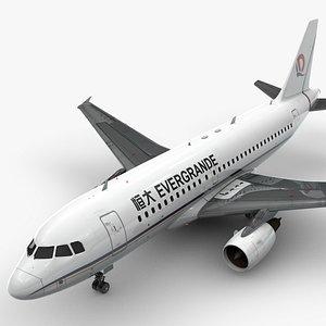 AirbusA319-100EVERGRANDEL1425 3D model