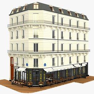 french restaurant 3D model