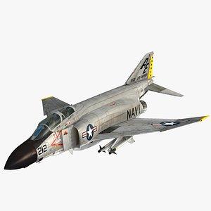 3D F4 J NAVY Phantom II Tarsiers Mig Killer model