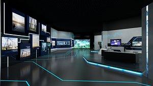 exhibition interior decoration 3D model