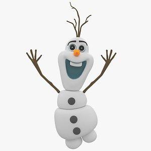 snow snowman olaf 3D model