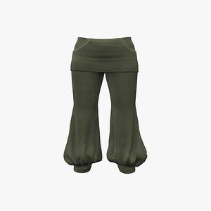 Harem Capri Pants 3D model
