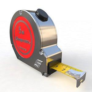 3D Metric Tape Measure model