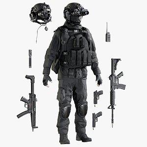 military uniform equipment model