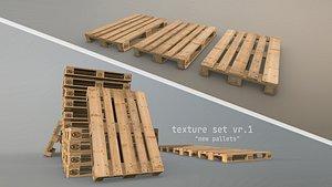 Cargo Wood Pallets EUR EPAL vr-1 3D