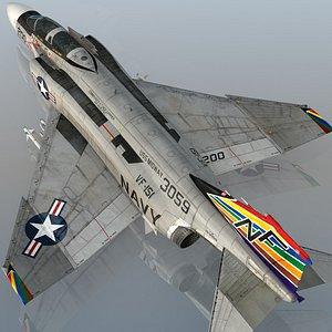 F4 B NAVY Phantom II Vigilantes  VF-151 USS Midway 3D