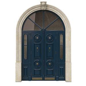 3D Entrance classic door 43