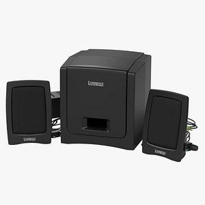3D Computer Speakers - Creative SoundWorks Slim500 model
