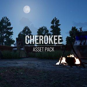 Cherokee - Asset Pack - Blender and FBX 3D model