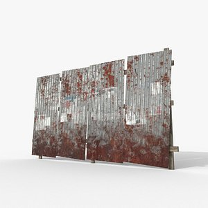 roof galvanized wall 3D model