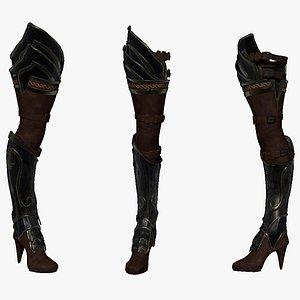 3D sculpt armor leg