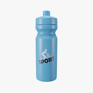3D sports bottle model