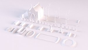 3D 43 cemetery model