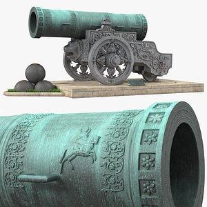 3D Tsar Cannon Monument model