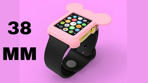 3D Mickey Mouse Apple Watch Ears Case Cover 38mm model
