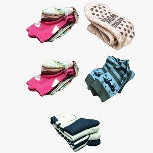 3D clothes socks wardrobe model