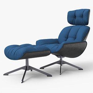 3D Armchair RB Blue 2