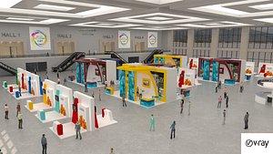3D virtual event exhibition
