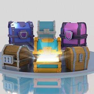 3D clash royale chest