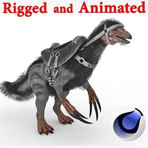 Therizinosaurus Rigged and Animated 3D model