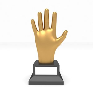 3D model award hand