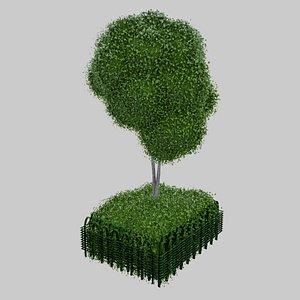 3D city bush