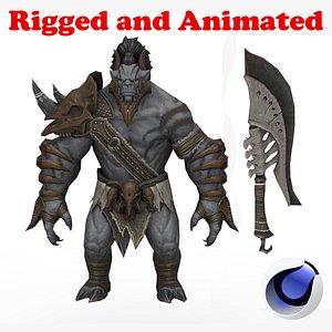 3D Dark Orc Elite model