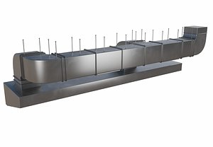 3D Air Ventilation Duct model