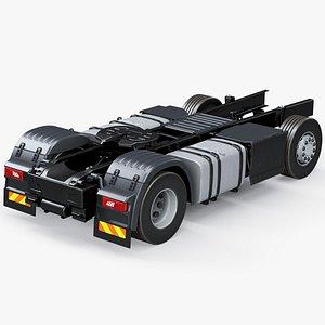 3D semi truck chassis model