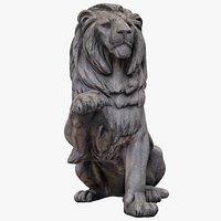 Raised Paw Lion Statue