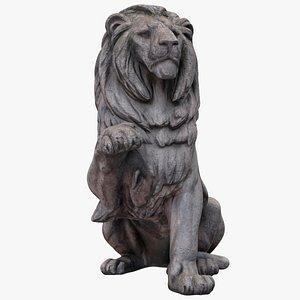 raised paw lion 3D model