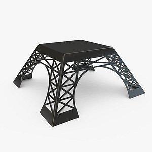 3D Eiffel Coffee Table model
