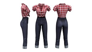 3D Retro Pin Up Outfit