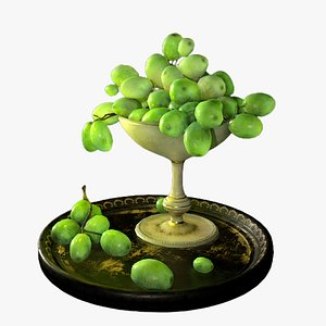3D grapes chalice model