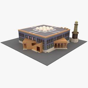 Katara Mosque Cultural Village Doha 3D