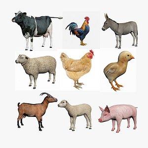 Farm Animals and Birds model