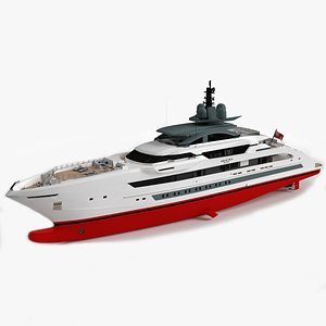 3D yacht ship vessel model