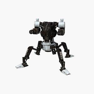 spider robot armored v2 3D model