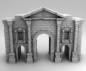 greek ancient gates 3D model