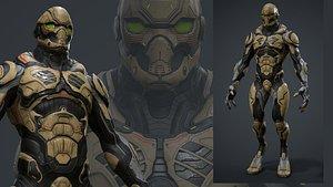 3D character marmoset model