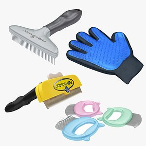Pet Combs and Glove Collection 3D