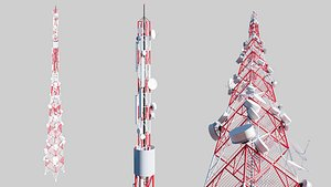 3D telecommunication cell tower model